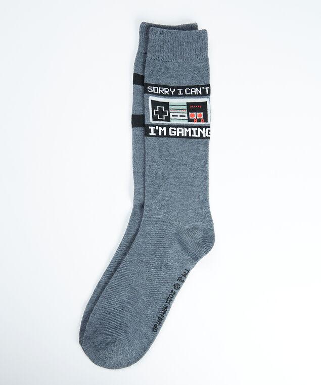 men's nintendo socks, Grey