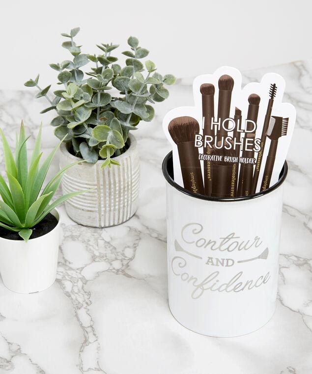 make-up brush holder, White, hi-res