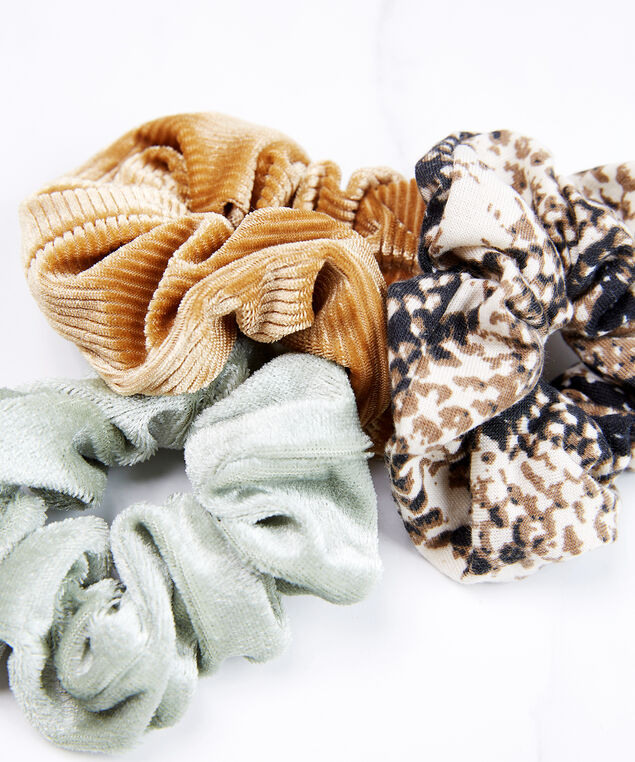 3 pack of scrunchies, Assorted, hi-res