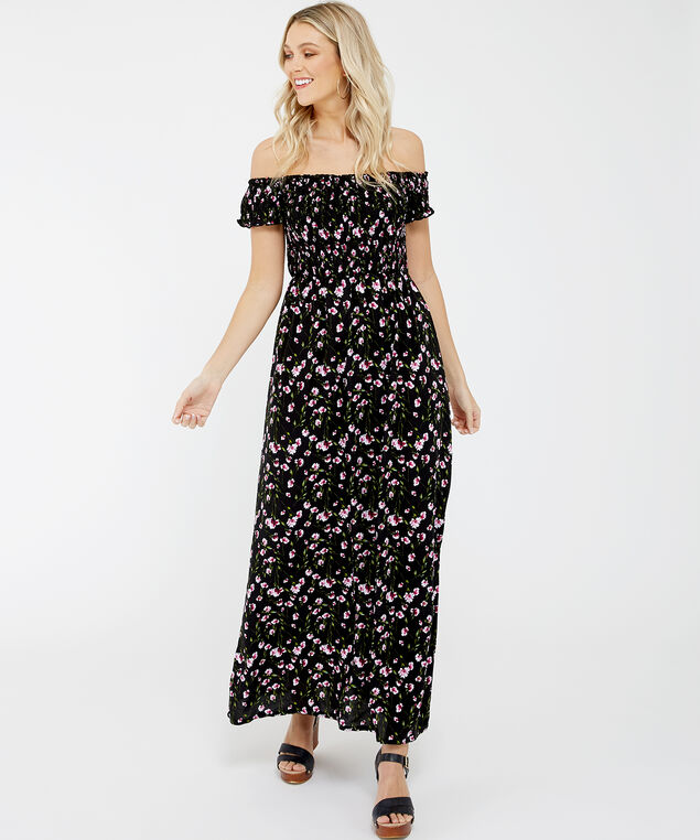 challis maxi dress - wb, Floral, hi-res