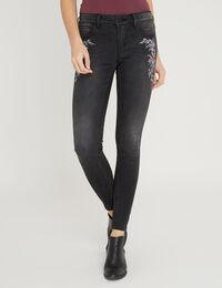 skinny black embroidery
