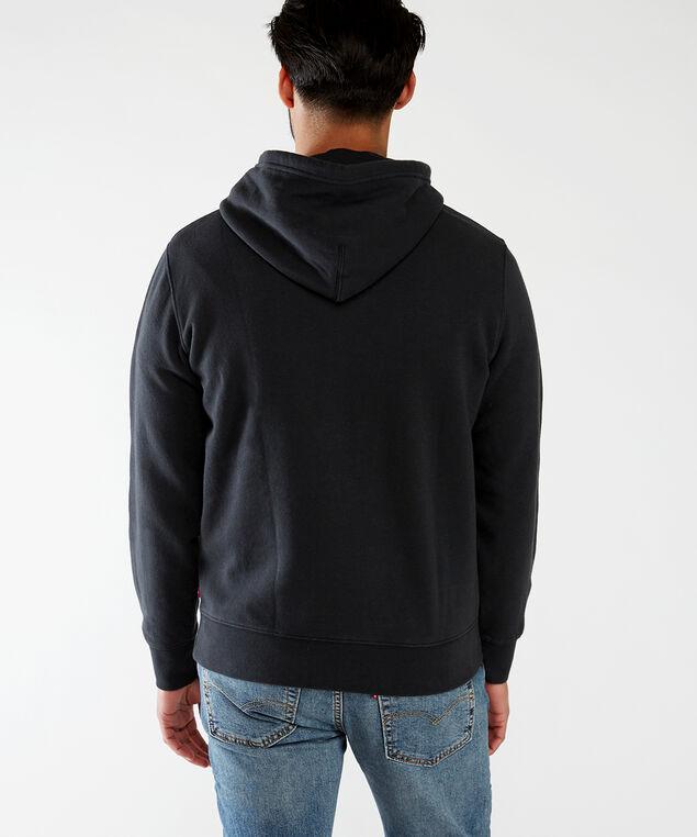 graphic hoodie, Jet Black