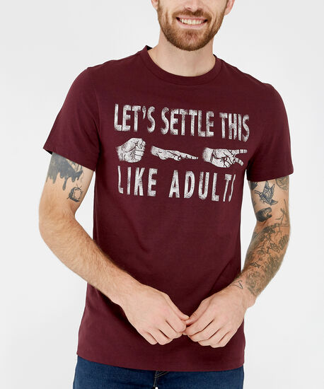 adult tee, LIGHT RED, hi-res