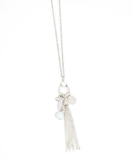 fringe necklace, Silver, hi-res