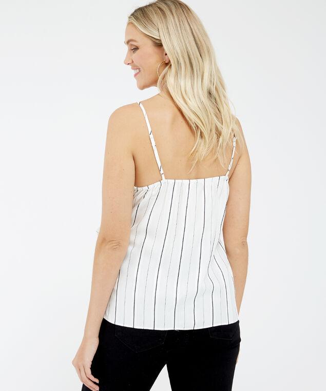 tie-front striped cami - wb, Stripe, hi-res