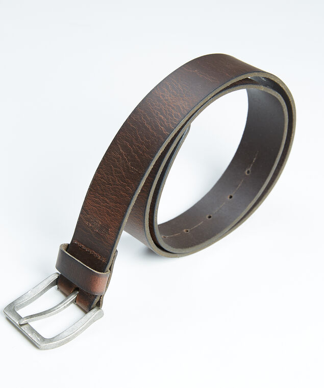 men's leather belt, Medium Brown
