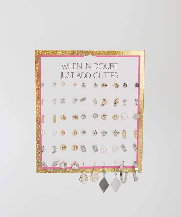multi pack earrings, MULTI, hi-res