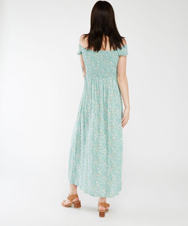 augustine off the shoulder dress su21, Teal Floral
