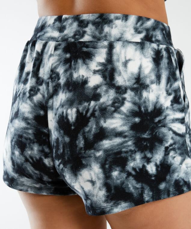 arya short, Black and White Tie Dye