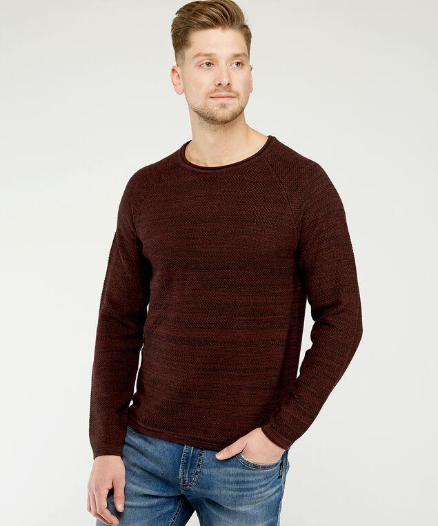 crew neck sweater, Red