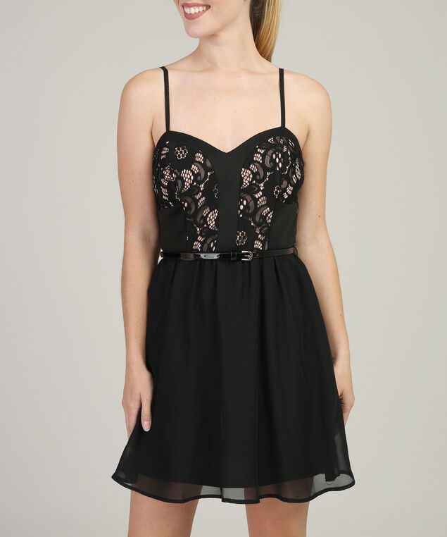 sweetheart fit and flare - wb, BLACK, hi-res