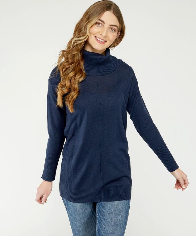 waffle sweater dress - wb, Navy