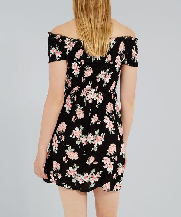 off shoulder dress - wb, PEONY FLORAL, hi-res