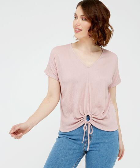 tie front top - wb, Pink, hi-res