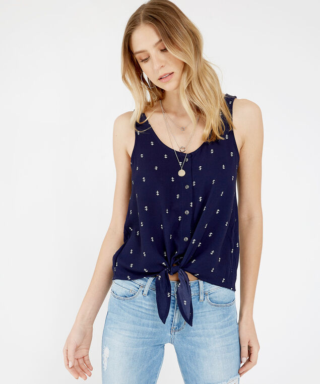 button front tank - wb, NAVY, hi-res