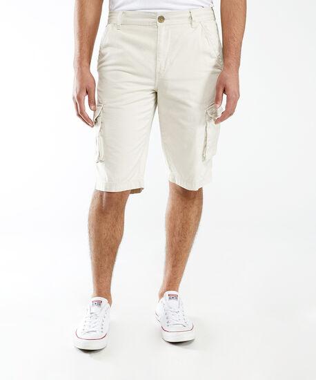 twill cargo pocket shorts, Off White, hi-res