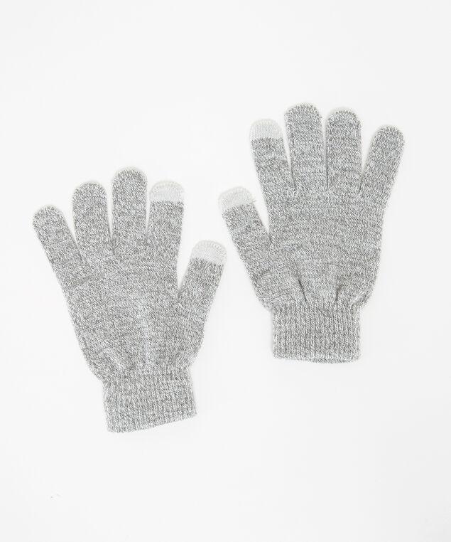 beanie and glove set, Grey, hi-res