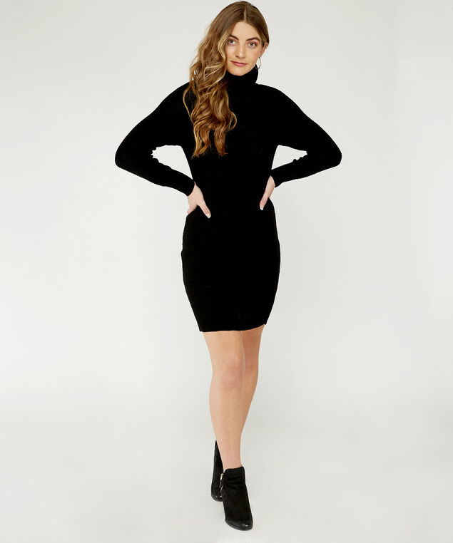 sweater dress - wb, Black