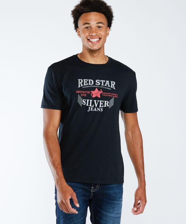 red star tee, Black