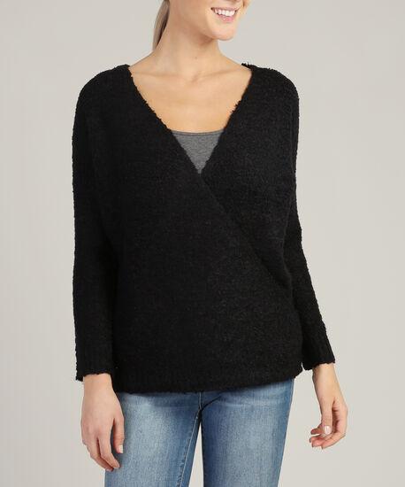 wrap sweater - wb, BLACK, hi-res