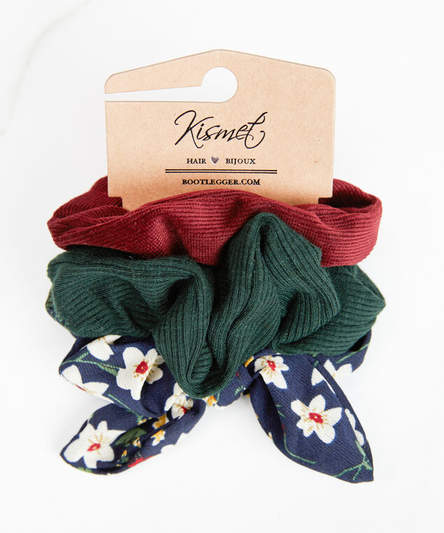 3 pack assorted scrunchies, Assorted