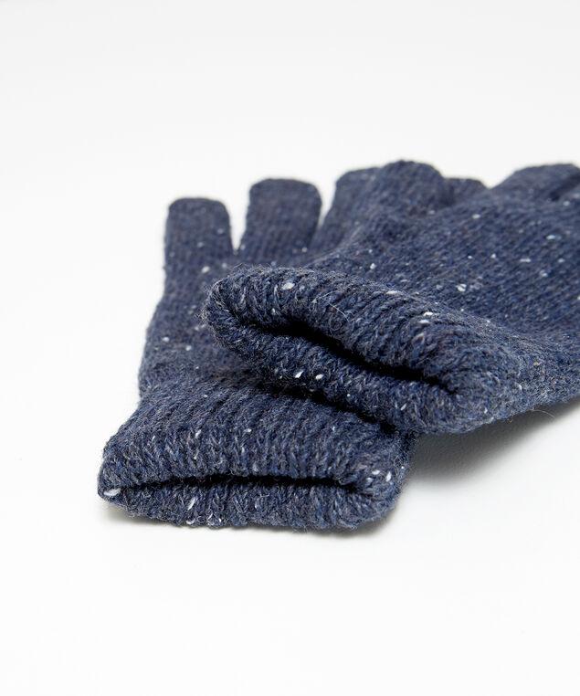 speckled gloves, NAVY, hi-res