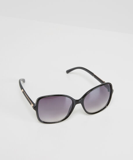 black oversized sunglasses, BLACK, hi-res