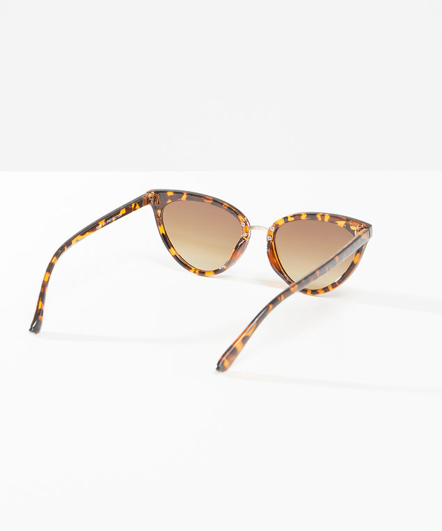 tortoise shell cat eye sunglasses, brown, hi-res