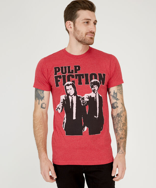 pulp fiction tee, RED HEATHER, hi-res