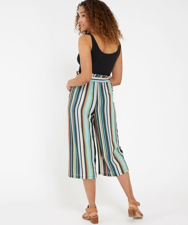 paperbag waist jumpsuit, MULTI STRIPE, hi-res
