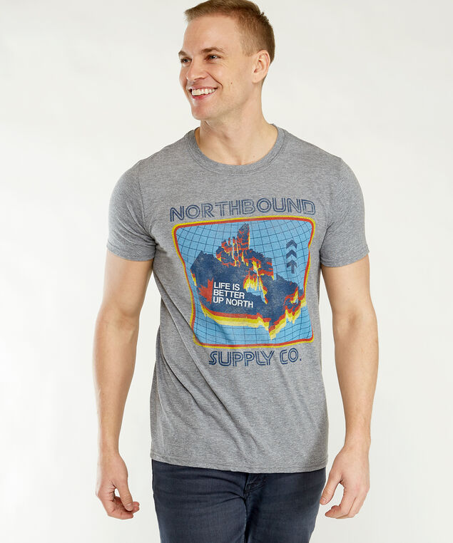 life is better up north tee, Heather Grey