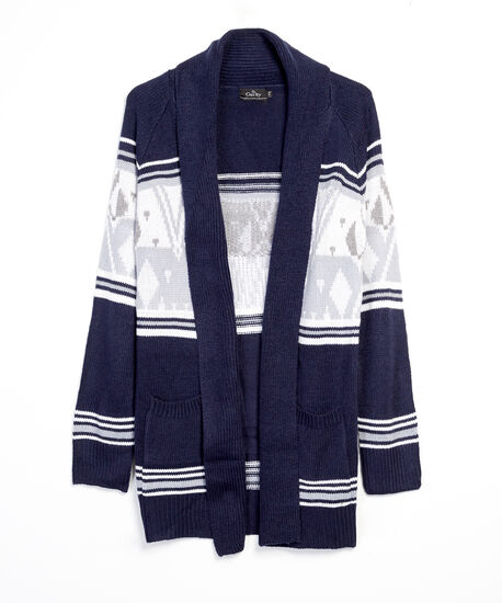 open cardigan - wb, Navy, hi-res