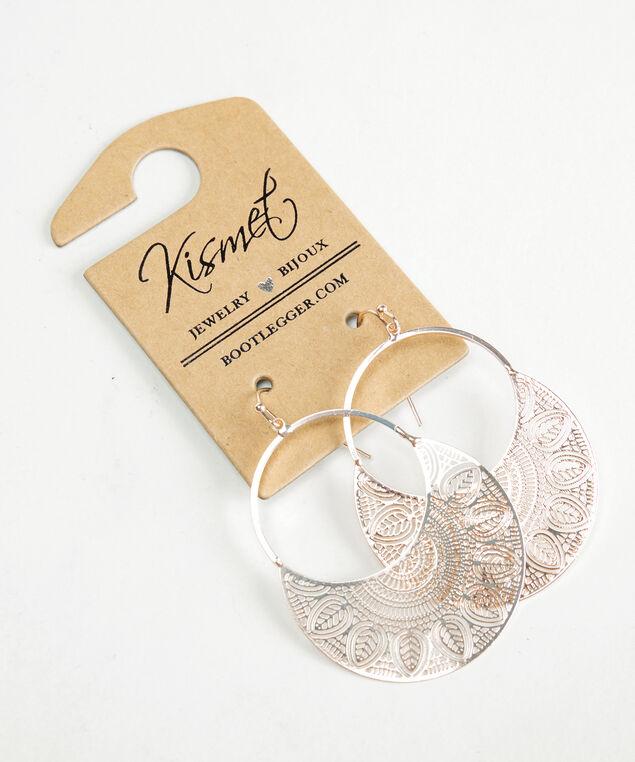 filigree earrings, Rose Gold