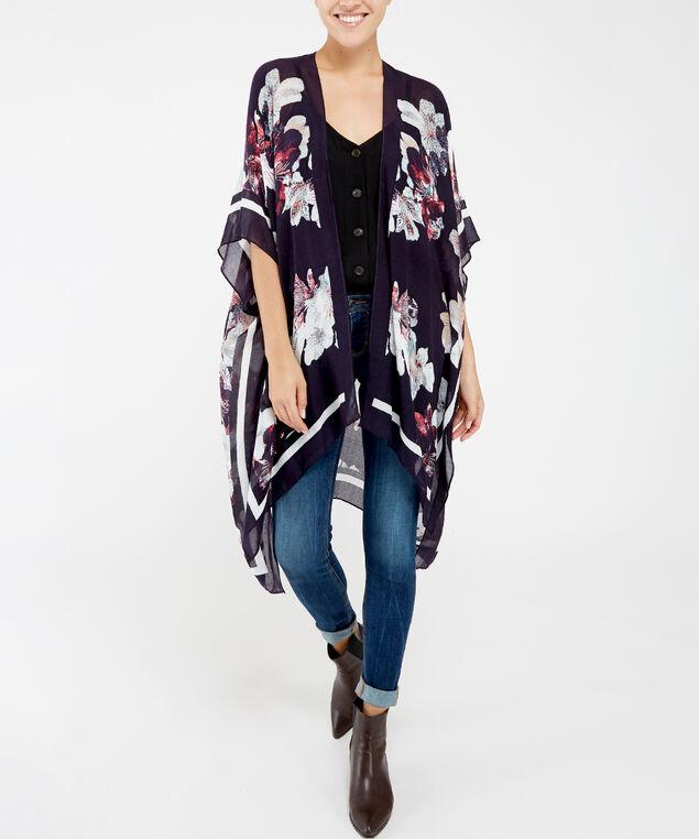 floral kimono, BLACK PATTERN, hi-res