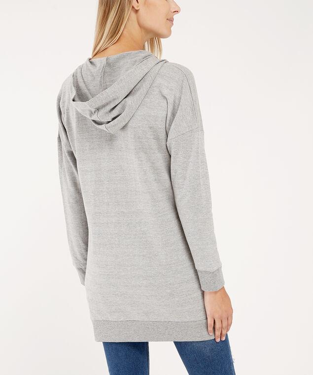 zip-up hoodie - wb, GREY, hi-res