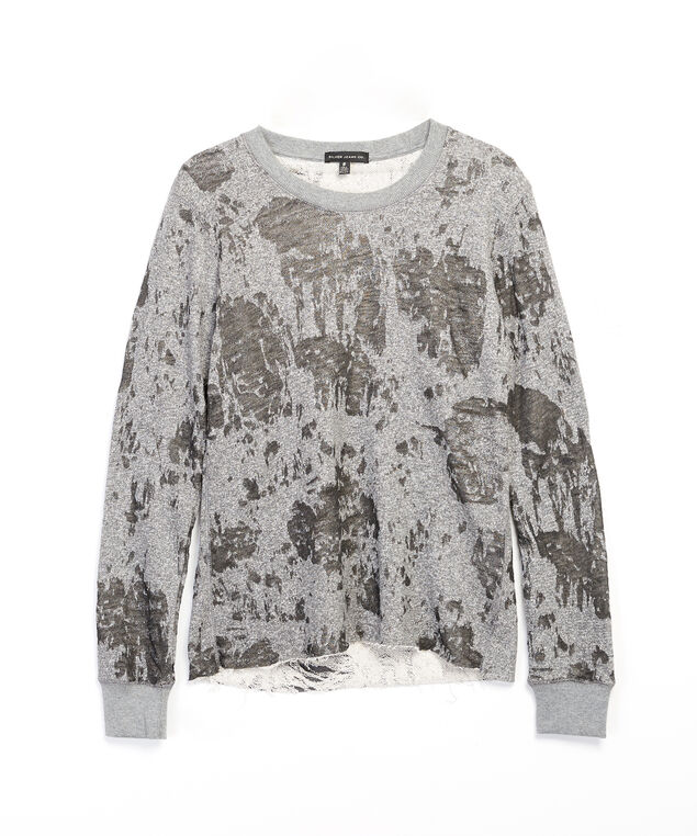 burnout pullover - wb, Charcoal, hi-res