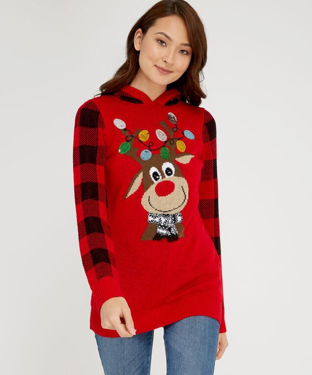 reindeer sweater - wb, RED, hi-res
