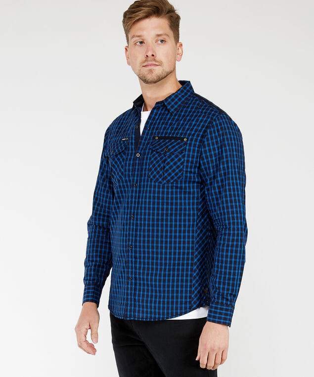 long sleeve shirt, Navy, hi-res
