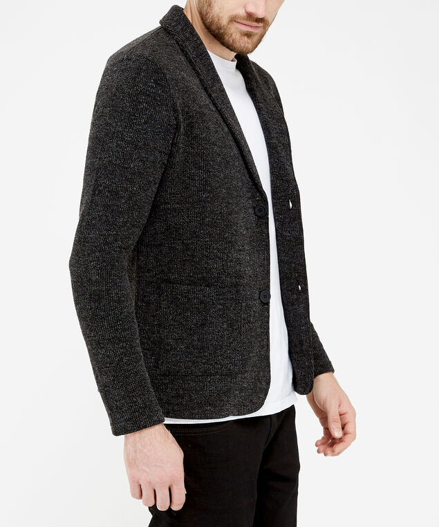 collared cardigan, Charcoal, hi-res