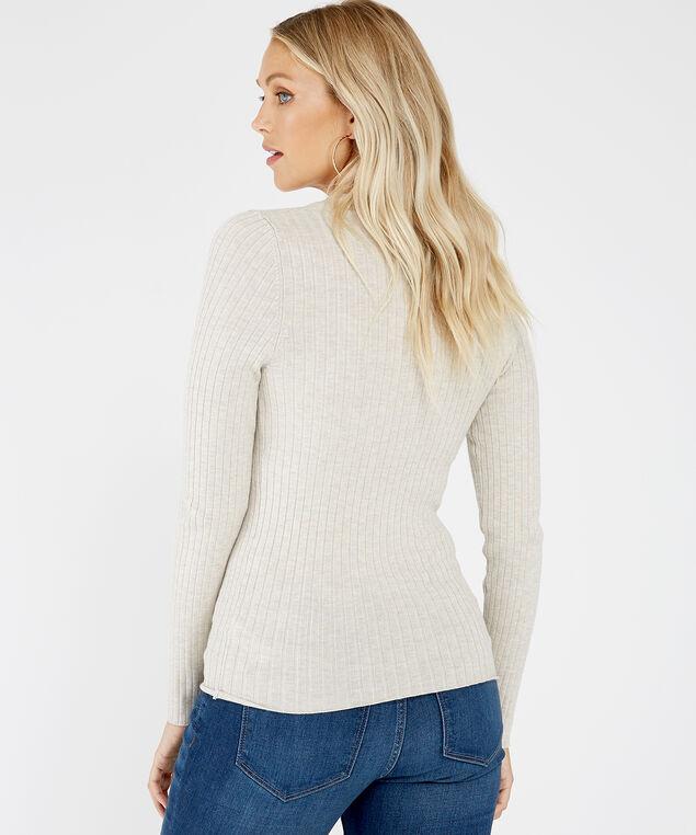 long sleeve pullover - wb, NATURAL, hi-res