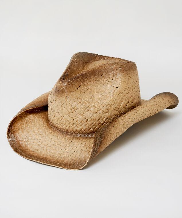 distressed straw hat, NATURAL, hi-res