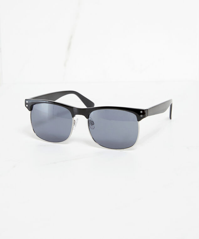 black metal sunglasses, Black, hi-res