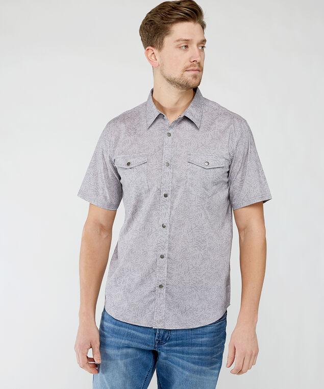 grey snap front shirt, Grey Pt