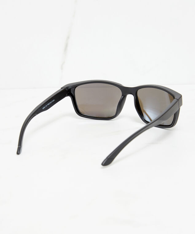 sporty mirror lens sunglasses, Black, hi-res
