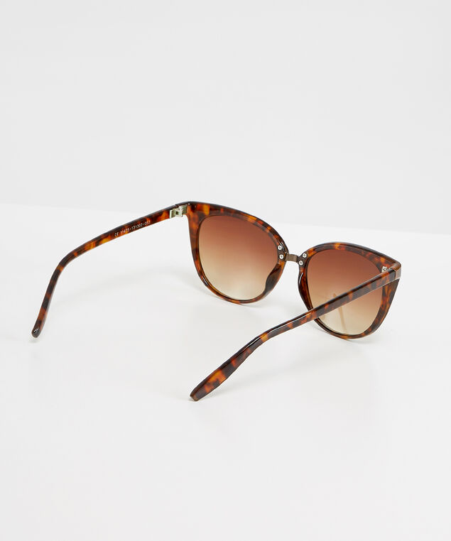 plastic cat eye sunglasses, TORTOISE, hi-res