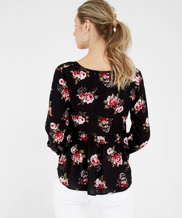 3 button blouse - wb, FLORAL, hi-res