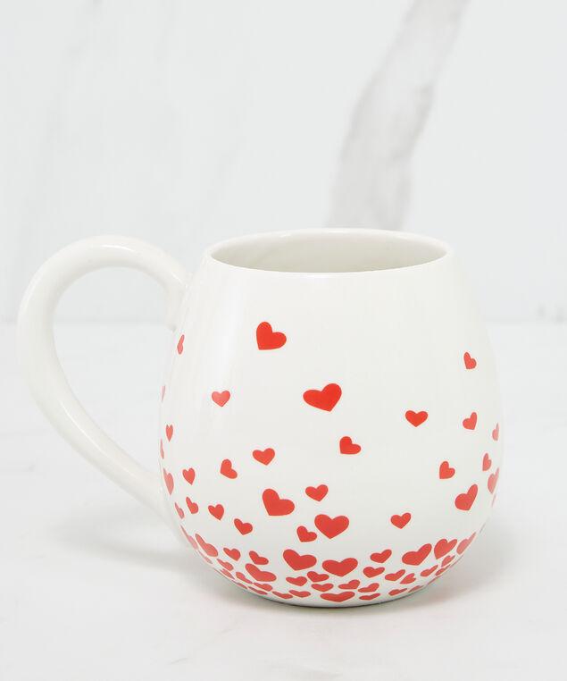 heart ceramic mug, White, hi-res