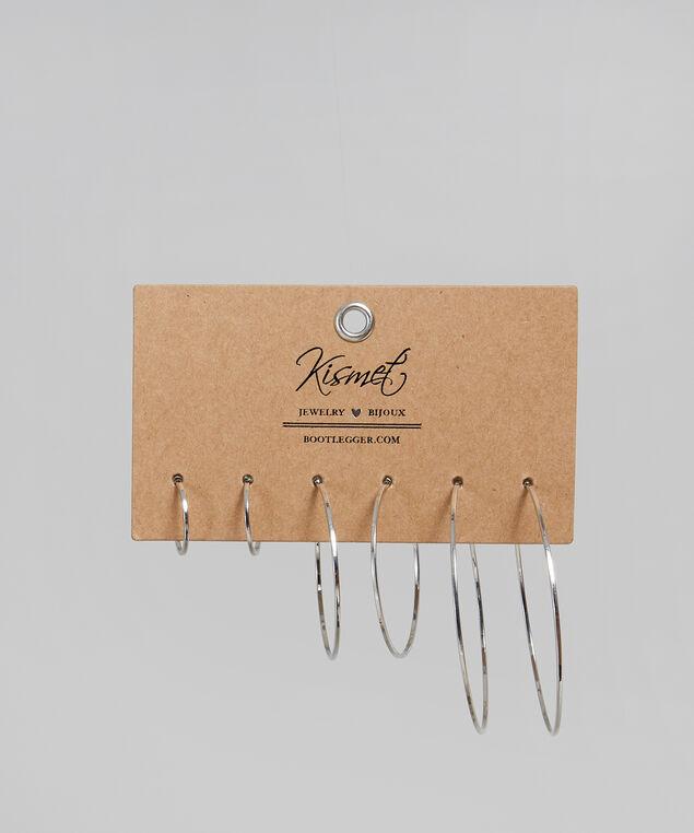 multi pack of silver hoop earrings, SILVER, hi-res