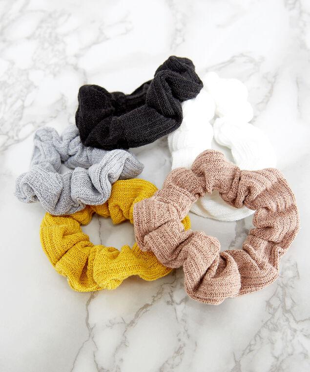 5 pack of scrunchies, MULTI, hi-res
