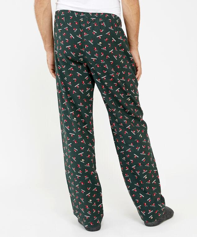 holiday pajama pant, snowboard santa, hi-res